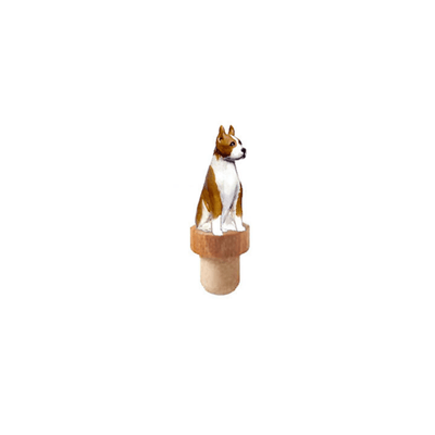 American Staffordshire Terrier Figurine Cork Bottle Stopper