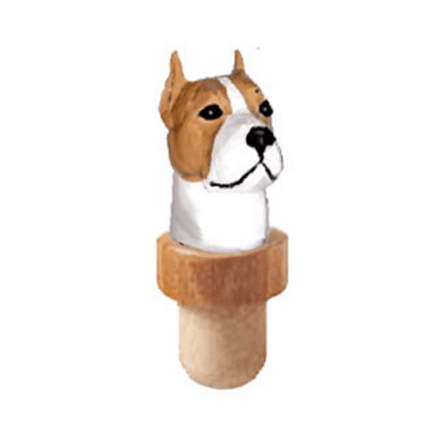 American Staffordshire Terrier Head Cork Bottle Stopper