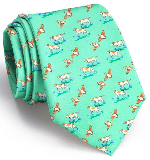 Pointer Quail Hunt Neck Tie