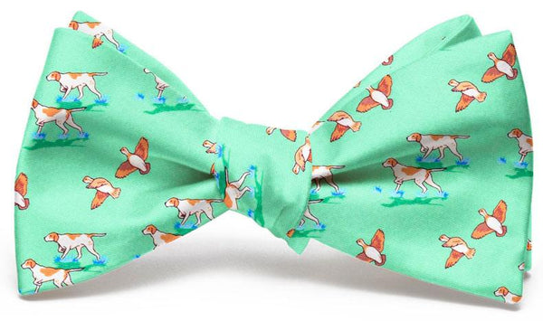 Pointer Quail Hunt Bow Tie