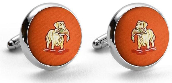 Golden Retriever Duck Dogs Cufflinks