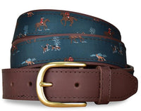 Beagle Fox Hunt English Woven Belt