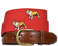 Bulldog Buddies Embroidered Belt