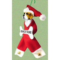 Beagle Santa Bone Ornament