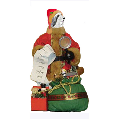 Bearded Collie Toy List Santa Statue
