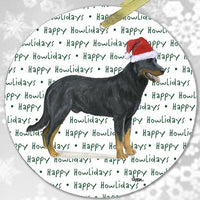 "Beauceron ""Happy Howlidays"" Ornament"