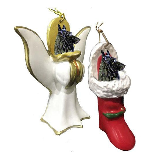 Belgian Sheepdog Ornament Set