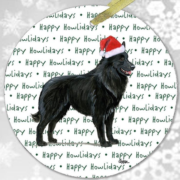 "Belgian Shepherd ""Happy Howlidays"" Ornament"