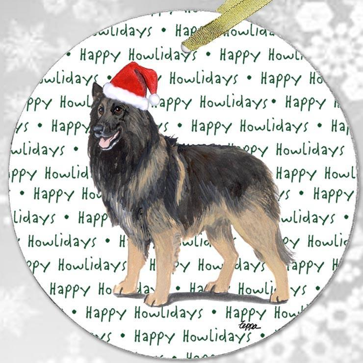"Belgian Tervuren ""Happy Howlidays"" Ornament"
