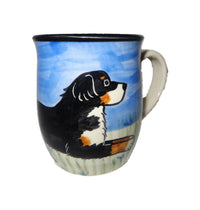 Bernese Mountain Dog Hand-Painted Ceramic Mug