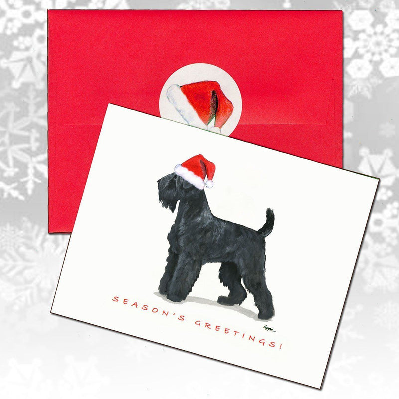 Black Russian Terrier Christmas Note Cards