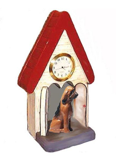 Bloodhound Figurine Clock