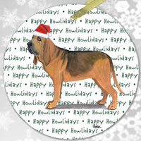 "Bloodhound ""Happy Howlidays"" Ornament"