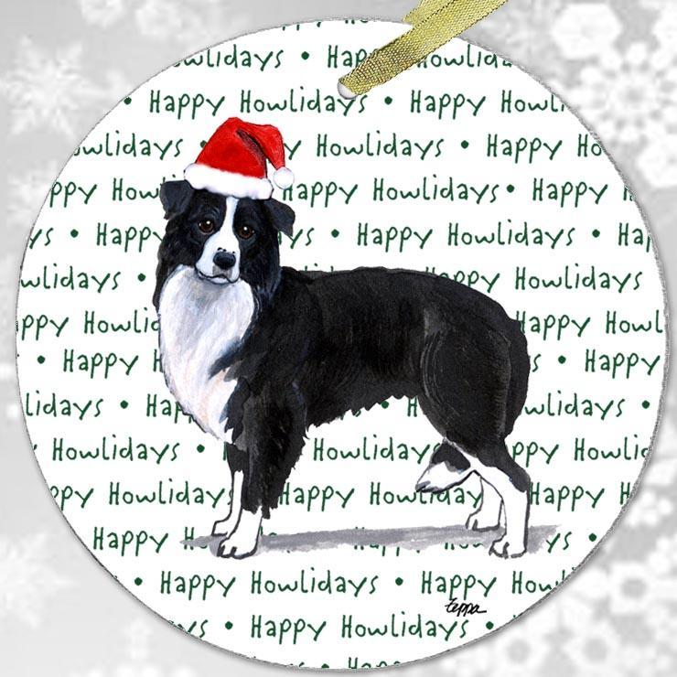 "Border Collie ""Happy Howlidays"" Ornament"