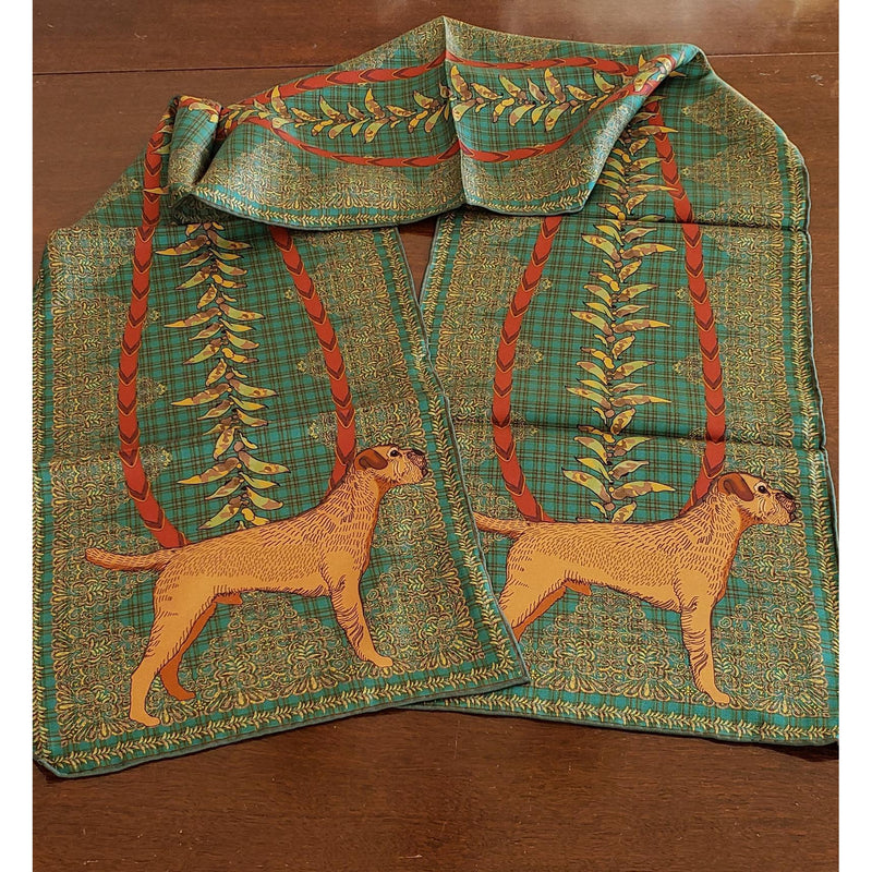 Border Terrier Oblong Silk Scarf