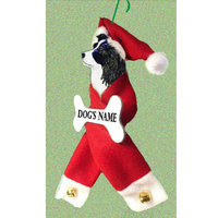 Border Collie Santa Bone Ornament