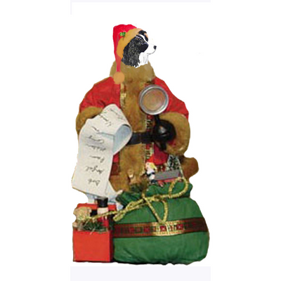 Border Collie Toy List Santa Statue