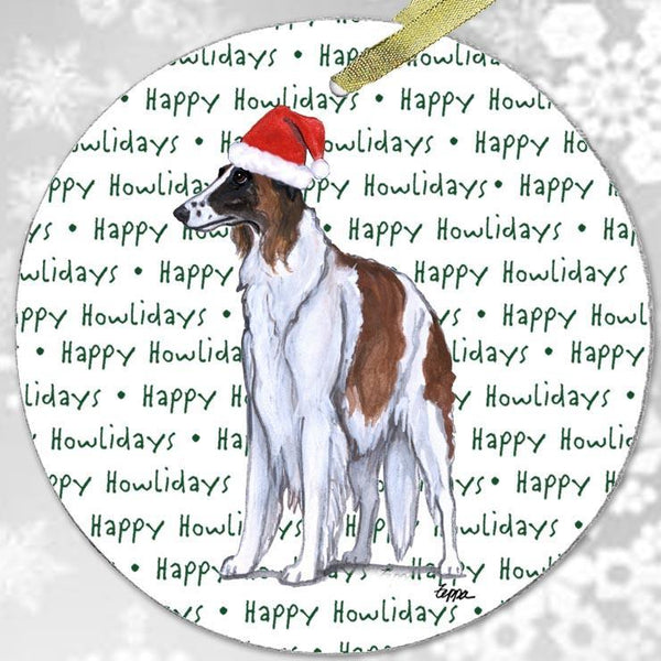 "Borzoi ""Happy Howlidays"" Ornament"