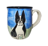Boston Terrier Hand-Painted Ceramic Mug