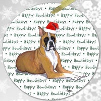 "Boxer ""Happy Howlidays"" Ornament"
