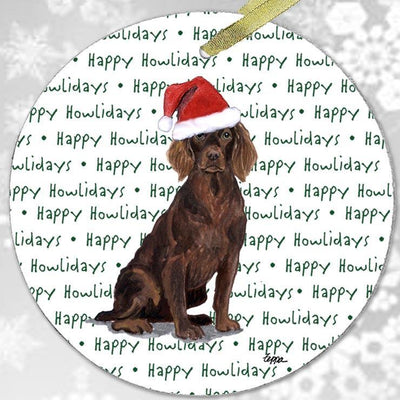 "Boykin Spaniel ""Happy Howlidays"" Ornament"