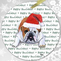 "Bulldog ""Happy Howlidays"" Ornament"
