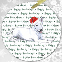 "Bull Terrier ""Happy Howlidays"" Ornament"