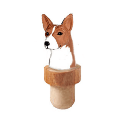 Basenji Head Cork Bottle Stopper