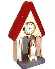 Beagle Figurine Clock
