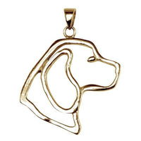 Beagle 14K Gold Cut Out Pendant