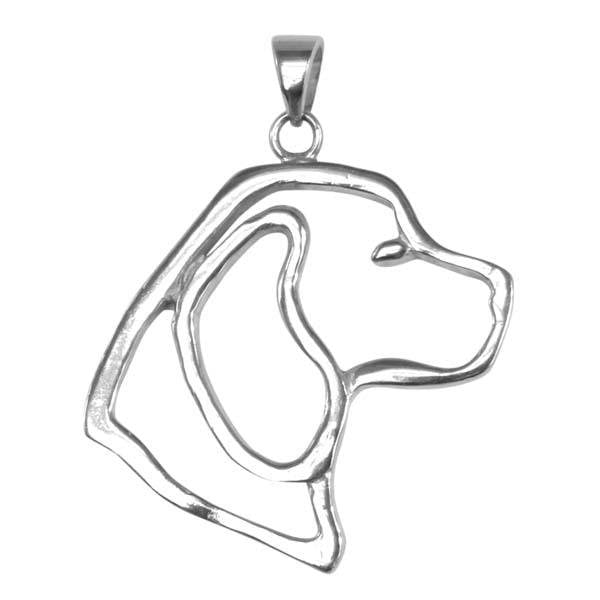Beagle Sterling Silver Cut Out Pendants