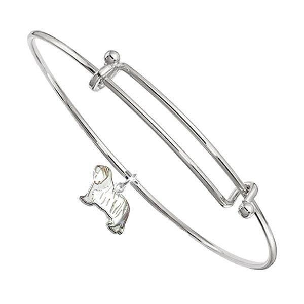 Bearded Collie Bangle Bracelet