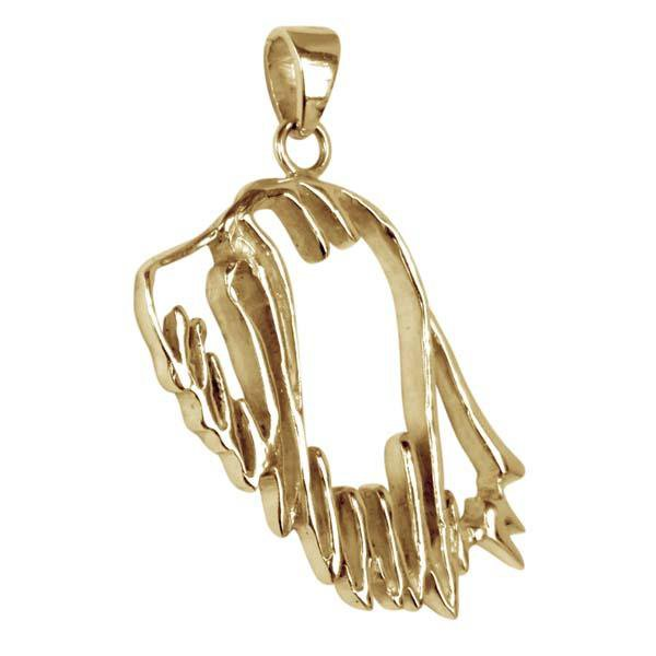 Bearded Collie 14K Gold Cut Out Pendant