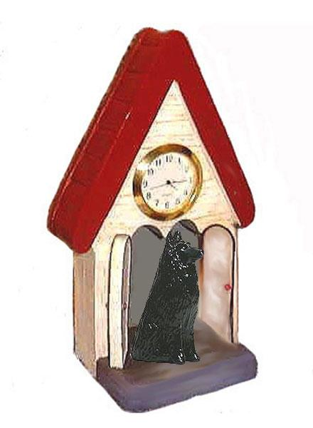 Belgian Sheepdog Figurine Clock