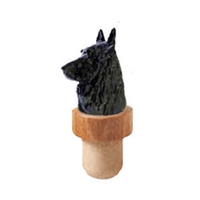 Belgian Sheepdog Head Cork Bottle Stopper