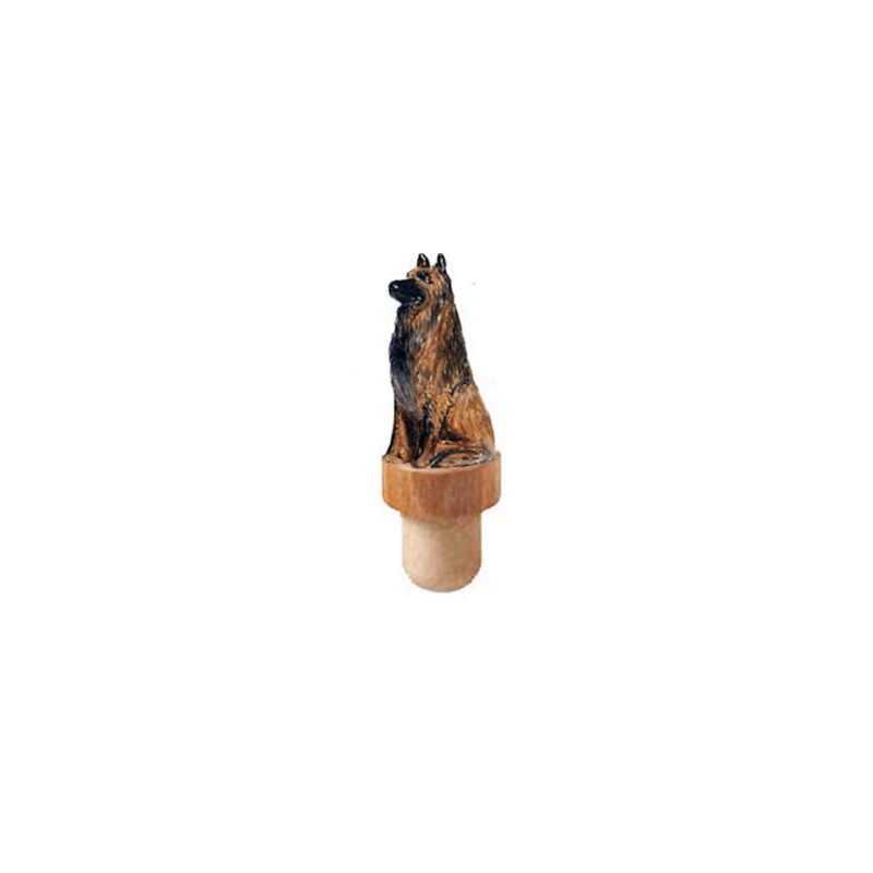 Belgian Tervuren Figurine Cork Bottle Stopper