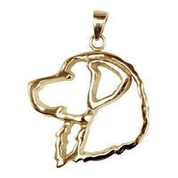 Bernese Mountain Dog 14K Gold Cut Out Pendant