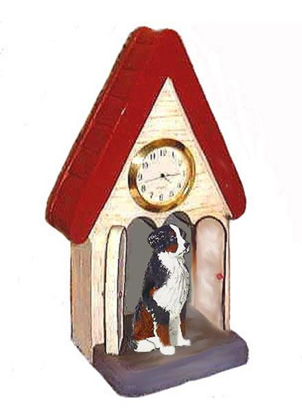 Bernese Mountain Dog Figurine Clock