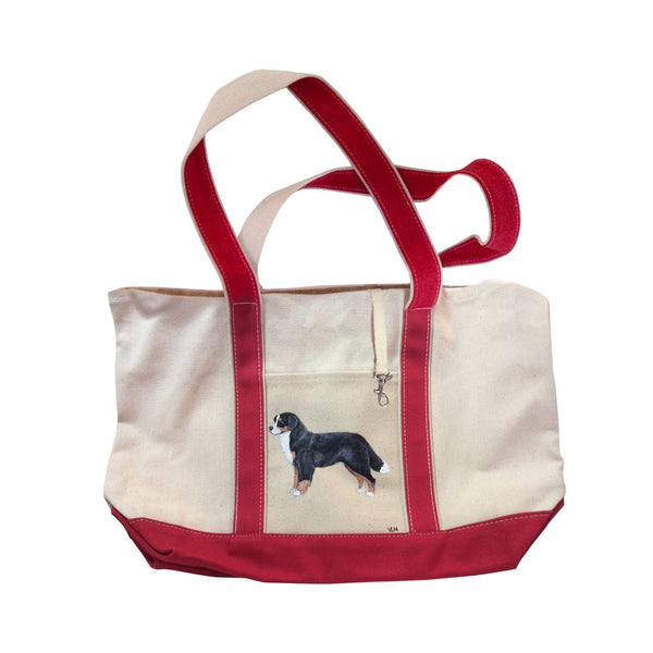 Hand-Painted Dog Breed Tote Bag - Herding Group