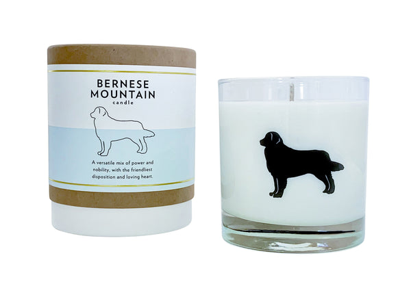 Bernese Mountain Dog Candle
