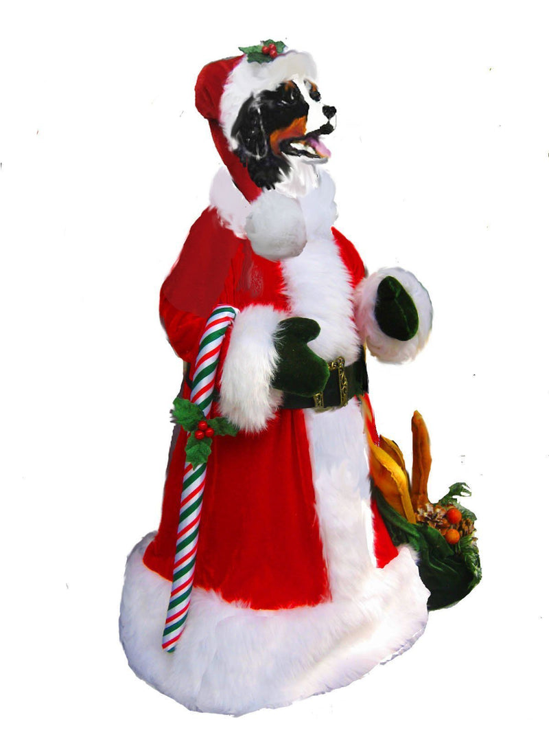 Bernese Mountain Dog Large Santa Statue