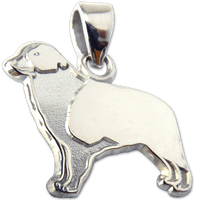 Border Collie Charm Pendant