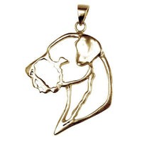 Border Terrier 14K Gold Cut Out Pendant
