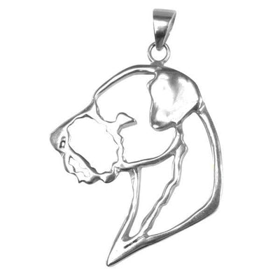 Border Terrier Sterling Silver Cut Out Pendants