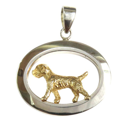 Border Terrier Sterling & 14k Gold Jewelry
