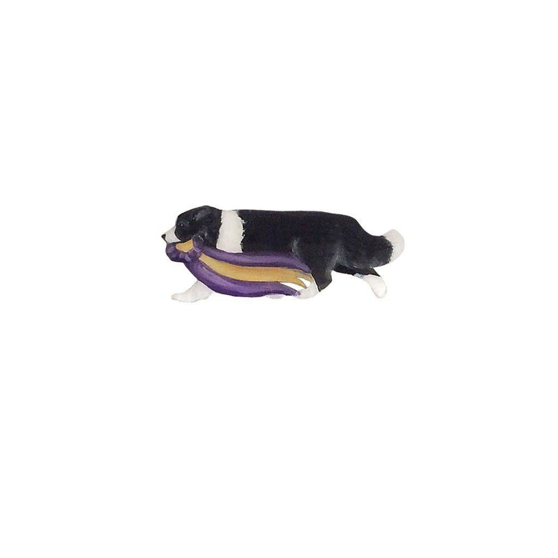 Hand-Painted Border Collie Pin