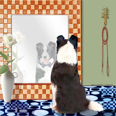 Border Collie Memory Box