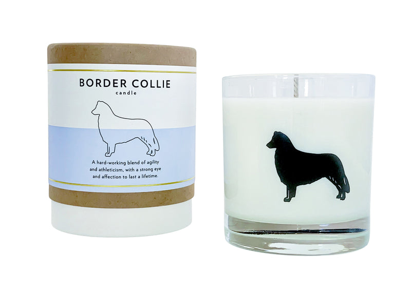 Border Collie Candle