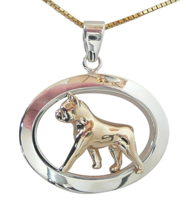 Boston Terrier Sterling & 14k Gold Jewelry