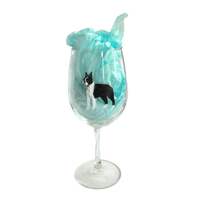 Hand-Painted Dog Breed Wine Glass - Non-Sporting Group